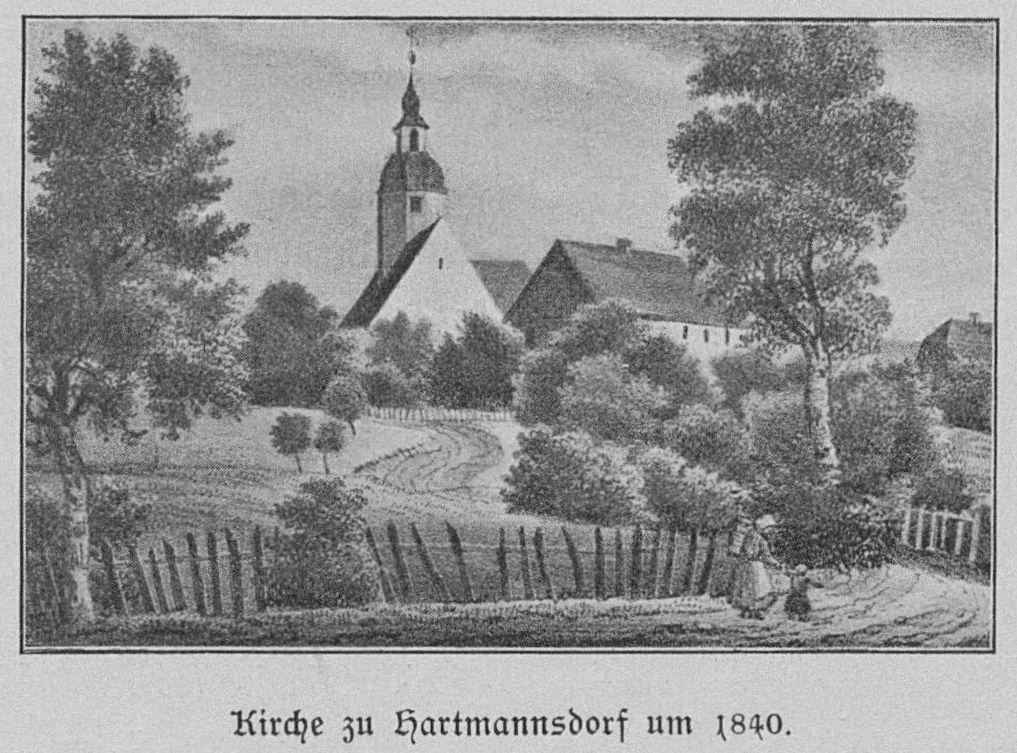 Hartmannsdorf_bei_Kirchberg_-_Kirche_um_1840